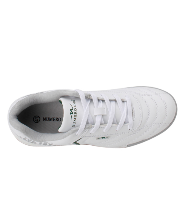 Numero Uno White & Green Sports Shoes