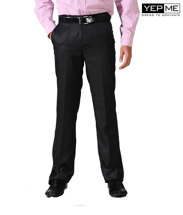 Yepme Formal Black Trousers YPMTROU0008