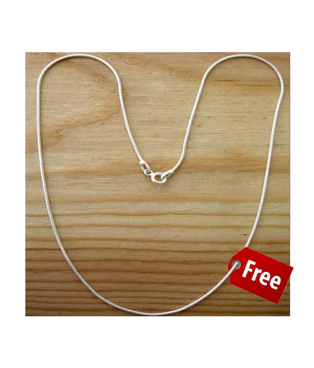 Designer Silver Inc. Magnificent Studded Pendant with Free Necklace