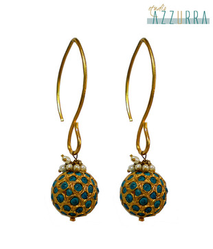 Studio Azzurra Enticing Turquoise Drop Earrings