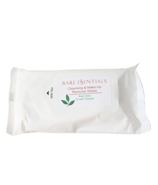 Bare Essentials Cleansing   Makeup Remover Wet Wipes (Aloe Vera)