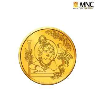 MNC 20 Gm 22kt Holy Lord Krishna Gold Coin With 916 Fineness