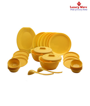 Luxuryware Elegant Yellow Dinner Set