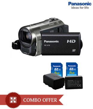 Panasonic HC V10 Camcorder (Black) 