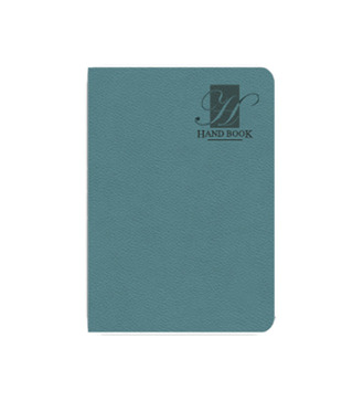 Nightingale Light Blue Minimalist Style Hand Book (Pack of 2)