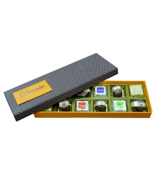 Assorted -Orange Box (12 pcs of chocolates)