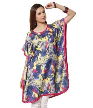 Lavennder Multicolour Cotton Kurti