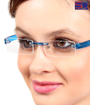 SD Opulent Blue Rimless Optical Frame