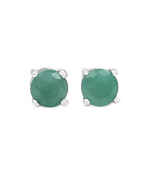 Johareez Garnet & Emerald Silver Earrings Combo