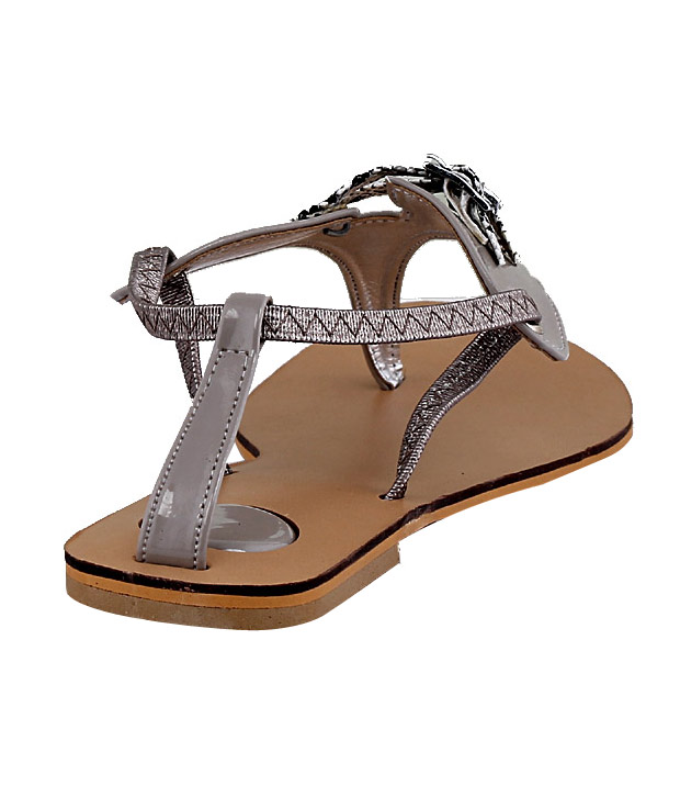 Martini Gorgeous Grey Flat Sandals