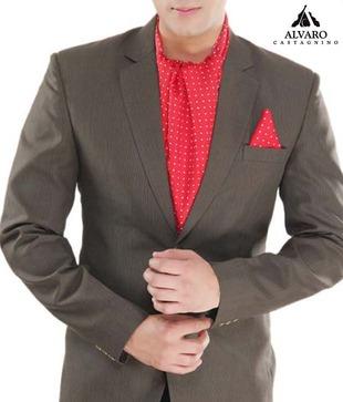 Alvaro Red Polka Scarf   Handkerchief Combo