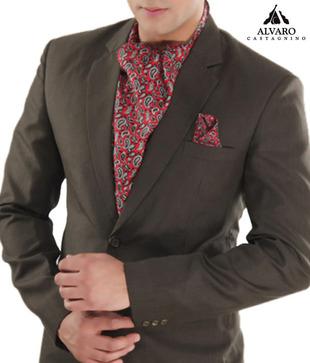 Alvaro Red Black Paisley Scarf   Handkerchief Combo