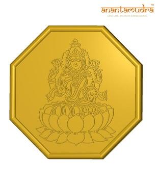 Anantamudra 2g 24 kt BIS Hallmarked Laxmi Gold Coin In 995 Purity