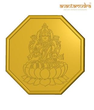 Anantamudra 8g 24 kt BIS Hallmarked Laxmi Gold Coin In 995 Purity