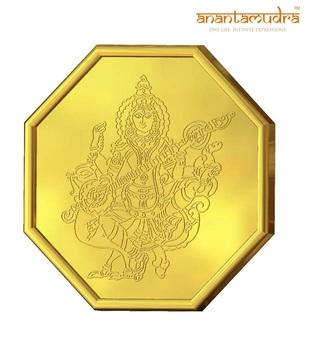 Anantamudra 1g 24 kt Certified Saraswathi Gold Coin In 999 Purity
