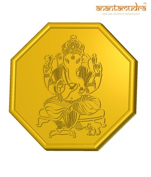 Anantamudra 4g 24 kt Certified Ganesha Gold Coin In 999 Purity