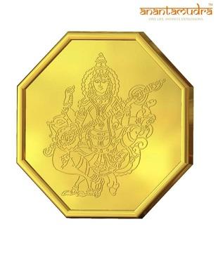Anantamudra 8g 24 kt Certified Saraswathi Gold Coin In 999 Purity