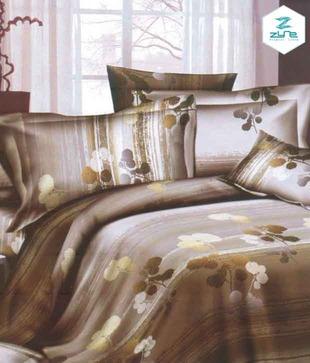 Zyne Ivy Flower Motifs King Size Bed Sheet