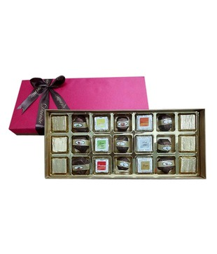 Assorted -Festive Pink Silk (21 pcs of chocolates)