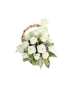 25 Mixed Roses Basket