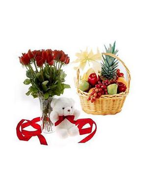 25 Yellow Roses Basket