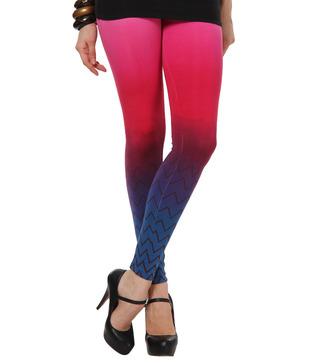 Femmora Multi-Coloured Cotton Spandex Leggings