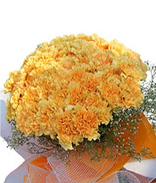 15 Yellow Carnations Bouquet