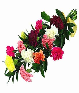 Assorted Colorful Carnations Bouquet