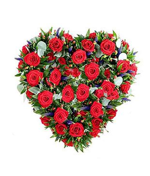 50 Red Roses Heart Shape Basket Primary image