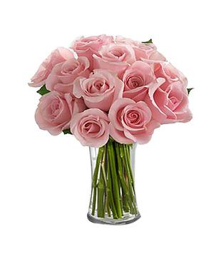 Pink Roses Vase Arrangement