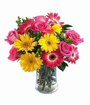 Seasonal Flowers Vase Arrangement