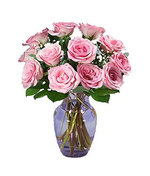 Priceless Pink Roses Arranged in a Vase