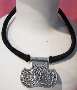Bhrti Exclusive Thread Brass Necklace