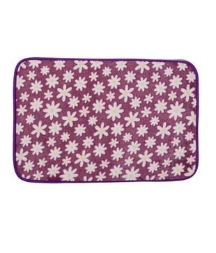 Enfin Homes Purple Flowers Door Mat