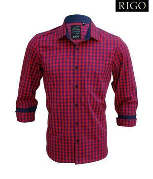 Rigo Red   Blue Checkered Shirt