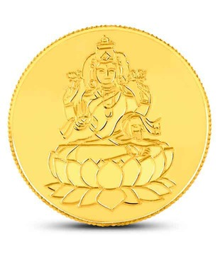 2 gm 22kt purity 916 Fineness Lakshmi Gold Coin By CaratLane