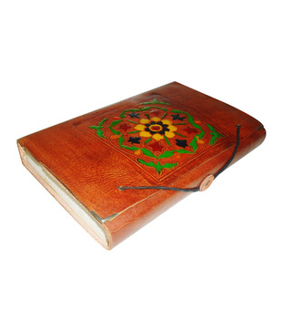 Welpro Leather Diary With Flower Paint