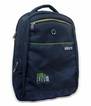 Starx BP-56 Black   Green Backpack