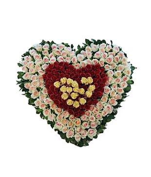 Mixed Roses Heart