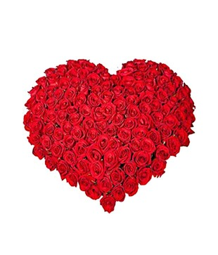 Valentine Heart Red Roses