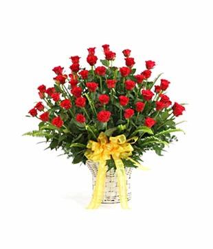 40 Roses Basket