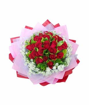 Designer Bunch of 30 Red Roses