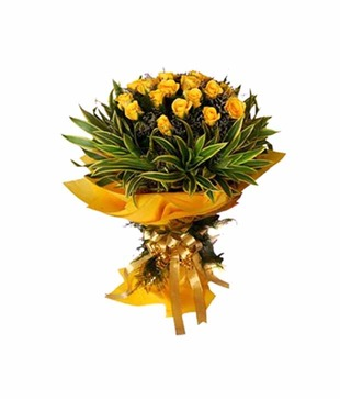 Designer Yellow Roses Bunch