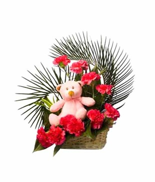 Teddy with Carnations