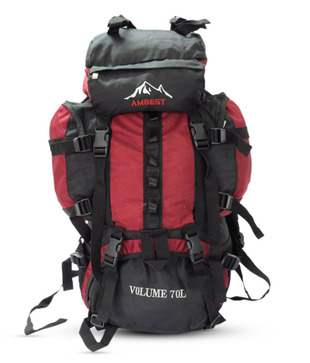 Ambest Black   Red Hiking Bag