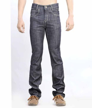 Lawless Low Rise Slim Fit Straight Hem Denims Black Jeans