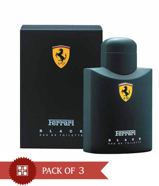 Ferrari Black125ml Each  (Pack of 3)