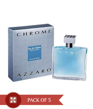 Azzaro Chrome 100ml Each  (Pack of 5)