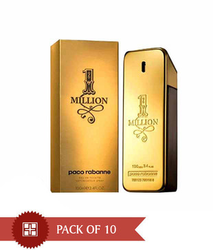 Paco Rabbane One million men 100ml Each  (Pack of 10)
