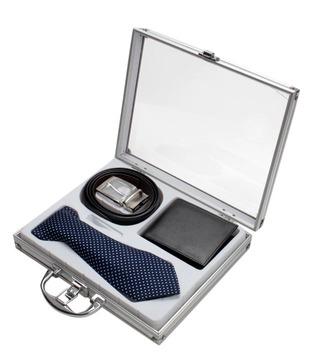 Firenzi Designer Tie, Wallet   Belt Gift Set